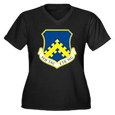 Cute 8th Women's Plus Size V-Neck Dark T-Shirt