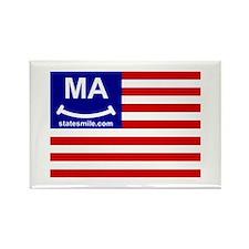 Cute State flag ma Rectangle Magnet