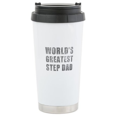 World's Greatest Step Dad (Grunge) Stainless Steel