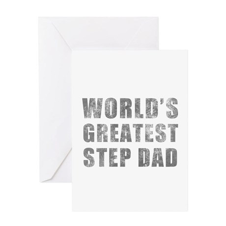 World's Greatest Step Dad (Grunge) Greeting Card