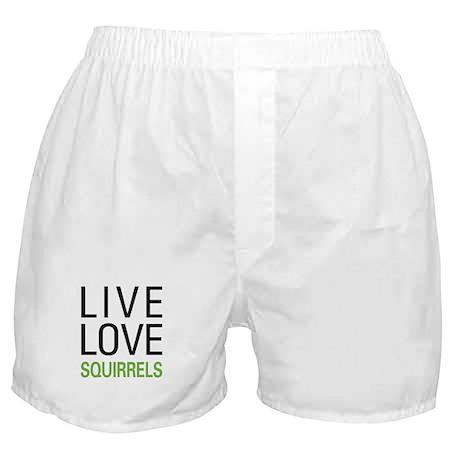 Live Love Squirrels Boxer Shorts