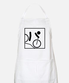 Mountain Biker Stick Figure Apron