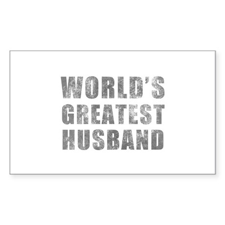 World's Greatest Husband (Grunge) Sticker (Rectang