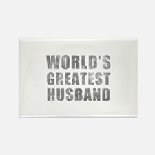 World's Greatest Husband (Grunge) Rectangle Magnet