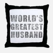 World's Greatest Husband (Grunge) Throw Pillow