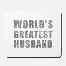 World's Greatest Husband (Grunge) Mousepad