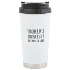 World's Greatest Father-In-Law (Grunge) Travel Mug