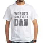 World's Greatest Dad (Grunge) White T-Shirt