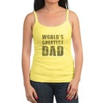 World's Greatest Dad (Grunge) Jr. Spaghetti Tank