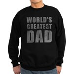 World's Greatest Dad (Grunge) Sweatshirt (dark)