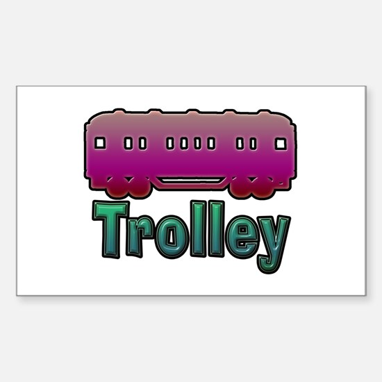 Trolley Sticker (Rectangle)
