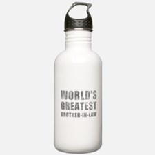 World's Greatest Brother-In-Law (Grunge) Water Bottle
