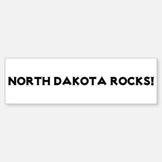 North Dakota Rocks! Bumper Bumper Bumper Sticker
