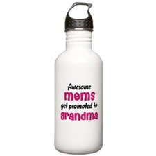 Awesome Moms get promoted Water Bottle