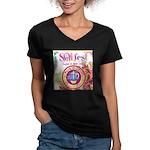 S.O.L Fest 2009 Women's V-Neck Dark T-Shirt