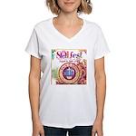 S.O.L Fest 2009 Women's V-Neck T-Shirt