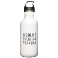 World's Greatest Grandad (Grunge) Water Bottle