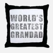World's Greatest Grandad (Grunge) Throw Pillow