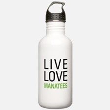 Live Love Manatees Water Bottle