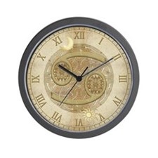 Cancer Zodiac Symbol Wall Clock