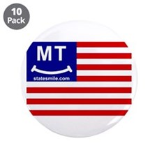"Funny State flags 3.5"" Button (10 pack)"