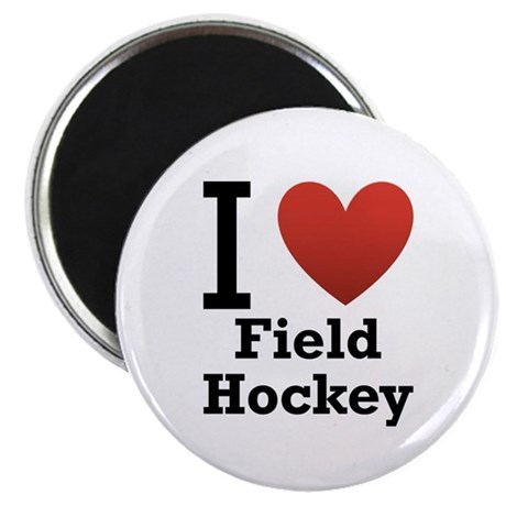 I Love Field Hockey Magnet
