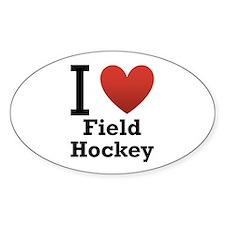 I Love Field Hockey Decal