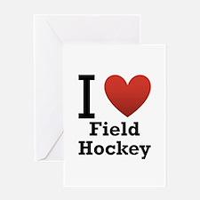 I Love Field Hockey Greeting Card