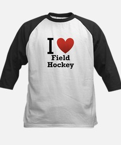 I Love Field Hockey Kids Baseball Jersey