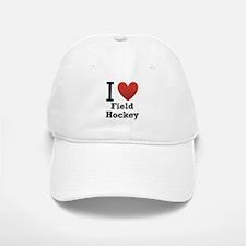 I Love Field Hockey Baseball Baseball Cap