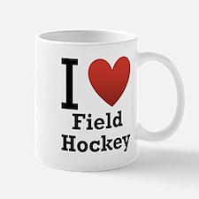 I Love Field Hockey Mug