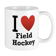 I Love Field Hockey Mug