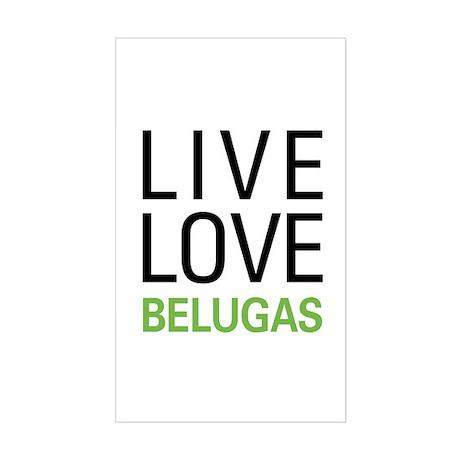 Live Love Belugas Sticker (Rectangle)