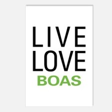 Live Love Boas Postcards (Package of 8)