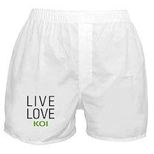 Live Love Koi Boxer Shorts