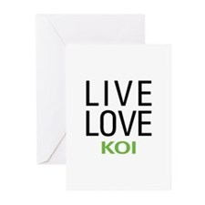 Live Love Koi Greeting Cards (Pk of 10)