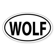 WOLF Oval decal Decal