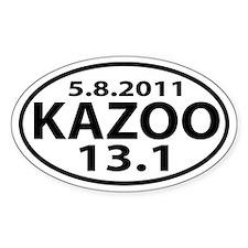 Kalamazoo Half-Marathon 13.1 decal Decal
