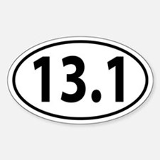 13.1 Half Marathon Oval decal Decal