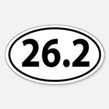 26.2 Marathon Oval decal Decal