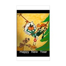 Cat - Happy new year - Decal