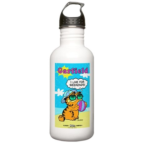 I Live For Weekends Stainless Water Bottle 1.0L