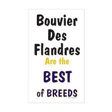 Bouvier Des Flandres Best Breed Sticker (Rectangul