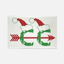 Cross Country Christmas Rectangle Magnet (10 pack)