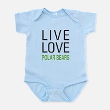 Live Love Polar Bears Infant Bodysuit