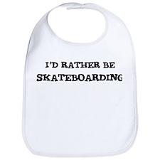 Rather be Skateboarding Bib