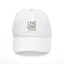 Live Love Butterflies Baseball Cap