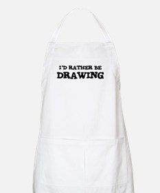 Rather be Drawing BBQ Apron