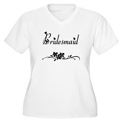 Classic Bridesmaid Women's Plus Size V-Neck T-Shir