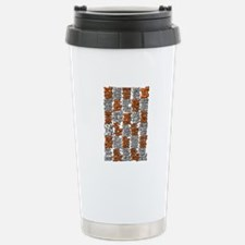 Morse Code A to Z Stainless Steel Travel Mug